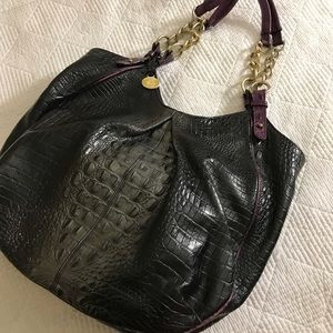 Authentic Brahmin TriColor Black  Anne
